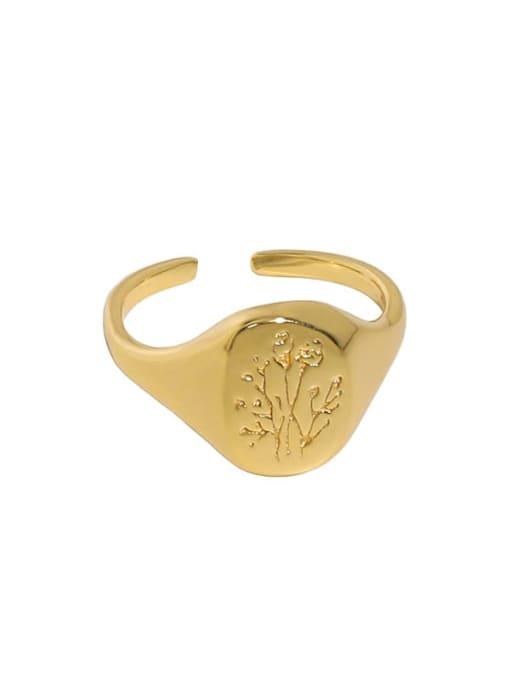 18K gold [14 adjustable] 925 Sterling Silver Geometric Minimalist Ring